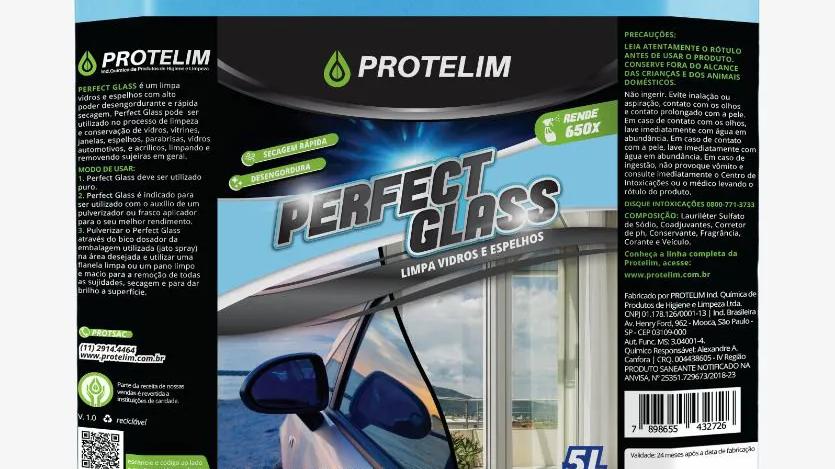 Limpa Vidros Perfect Glass 5L - Protelim