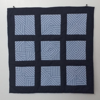 Kraemer Cotton, machine pieced and hand quilted 2017