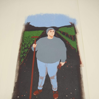 The Farm Lady, second to last layer printed