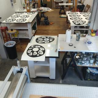 At Abrazos Press, where I do the final prints