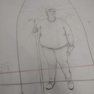 The Farm Lady - preliminary sketch