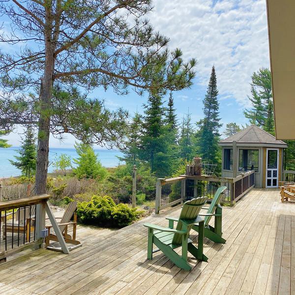 Massive outdoor deck