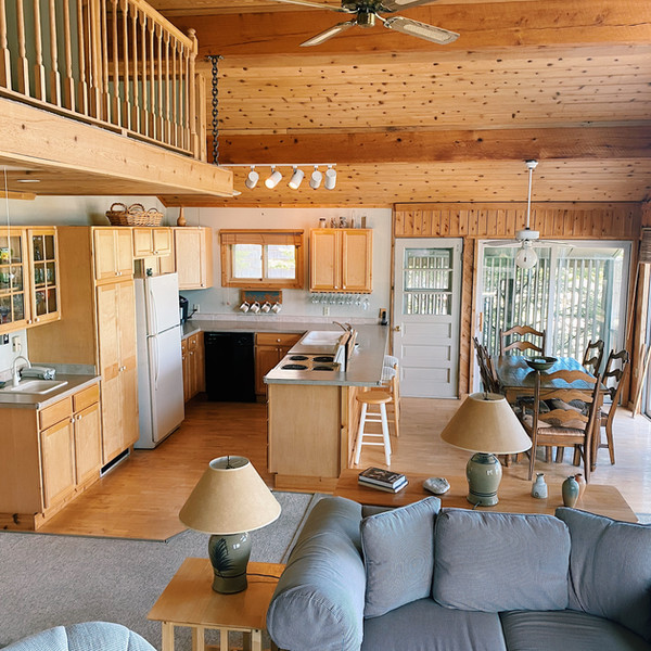 Cottage kitchen and dining