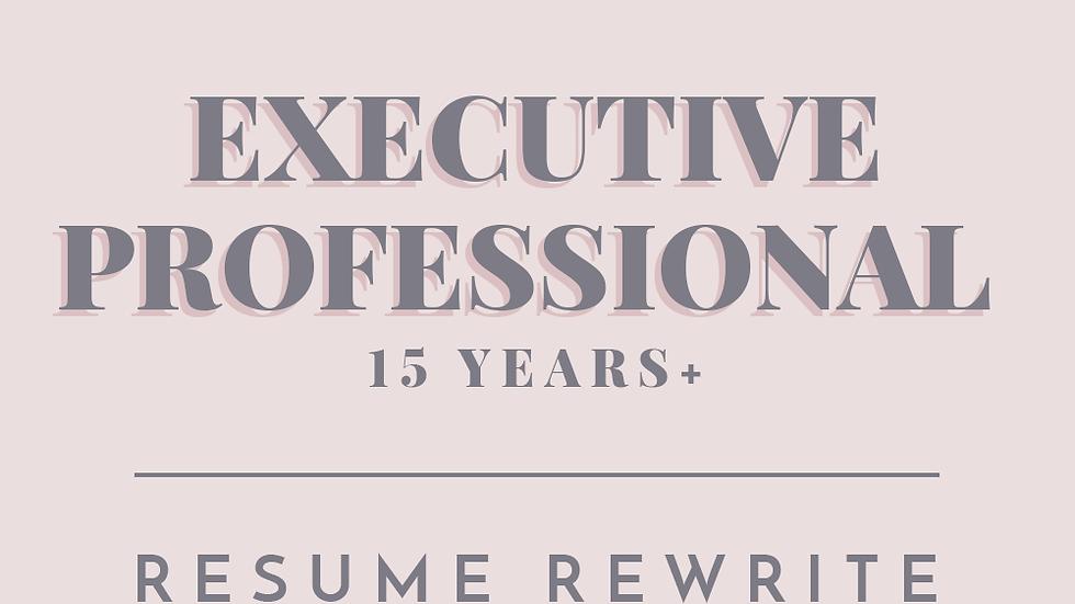 Executive Professional | Resume Rewrite