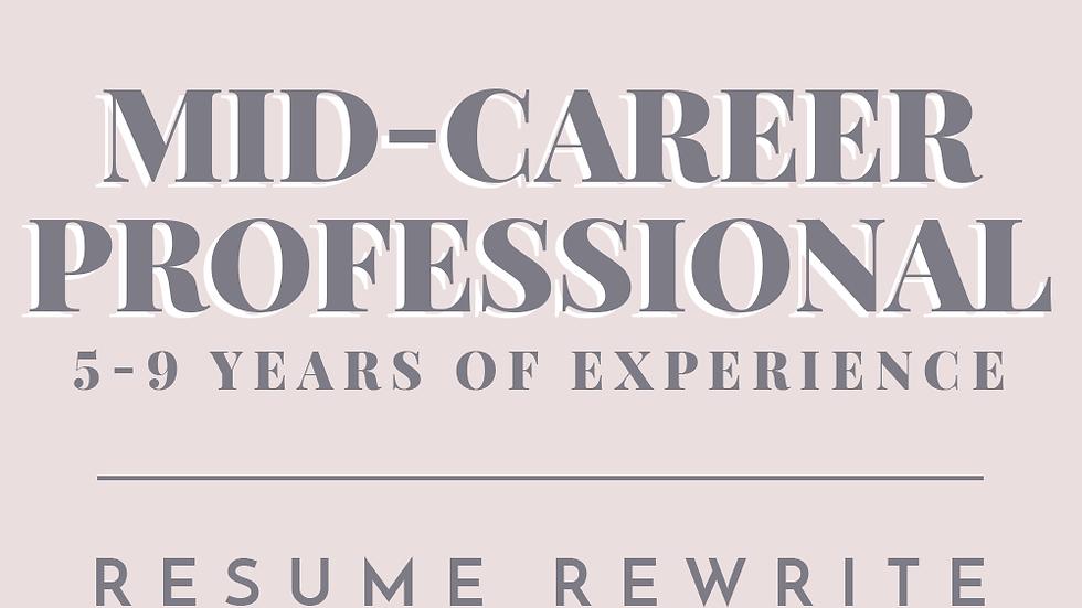 Mid-Career Professional | Resume Rewrite