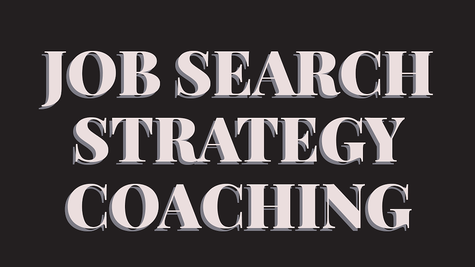 Job Search Strategy Coaching