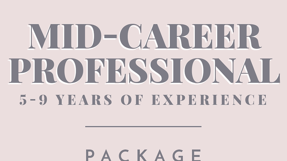 Mid-Career Professional | Package