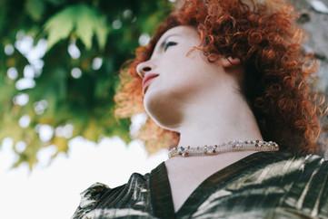 סרוגה גולדפילד/knitted necklace goldfield
