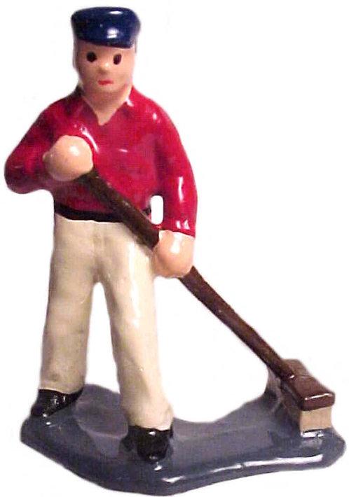 #1098 Man Sweeping