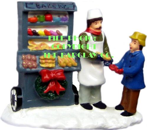 #4144 - Boy At Baker's Cart