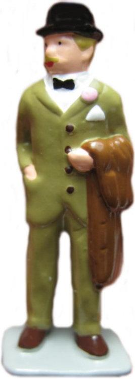 #1407 Man In Derby w/ Coat
