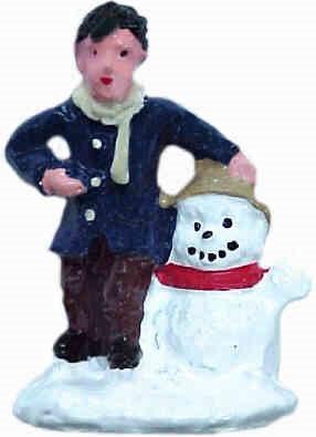 #1329 Boy & Snowman