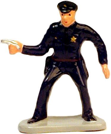 #1371 Cop Drawing Gun