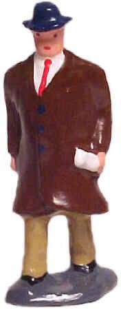 #1169a Man In Overcoat