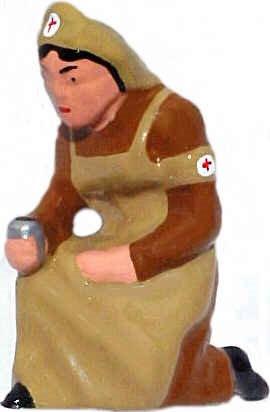#700a - Kneeling Nurse, Tan