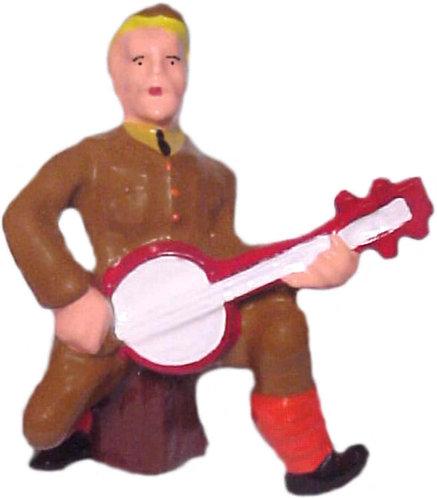 #664 - Soldier Playing Banjo