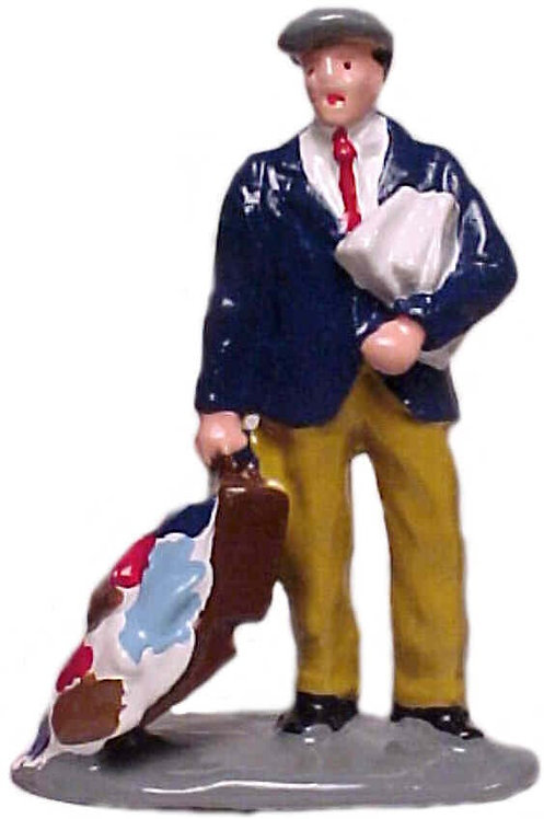 #1116 Man w/ Open Suitcase