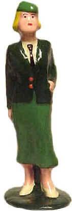 #6035c - USO Hostess, Green