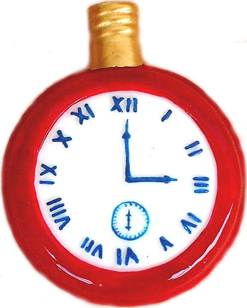 """#BC-003 - Old Time """"Milk Glass"""" Christmas Light - Pocket Watch"""