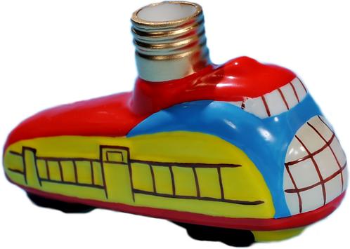 """#BC-015 - Old Time """"Milk Glass"""" Christmas Light - Streamliner Train"""
