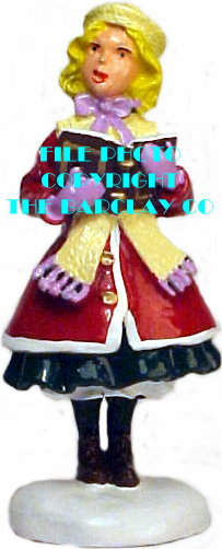 #4123 - Girl Caroling