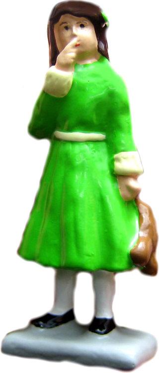 #1454 - Girl Standing w/ Bear