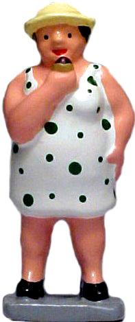 #1384 Fat Lady w/ Hot Dog