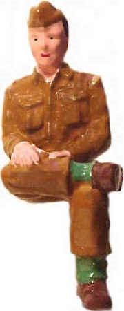 #1355 Soldier Sitting