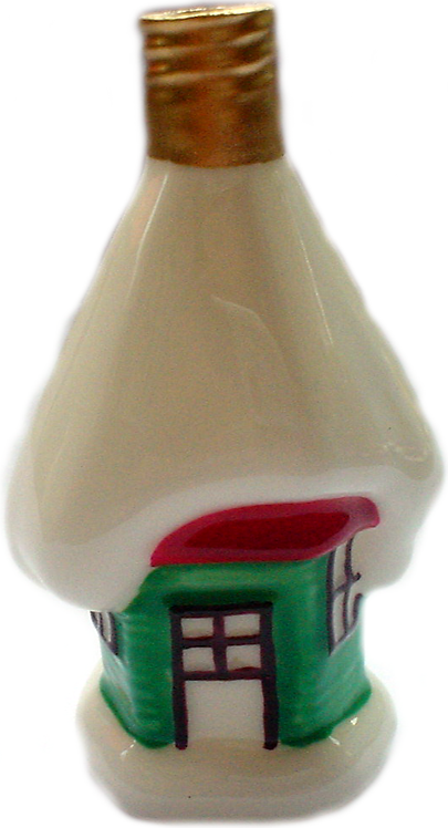"#BC-007 - Old Time ""Milk Glass"" Christmas Light - Snow Hut"