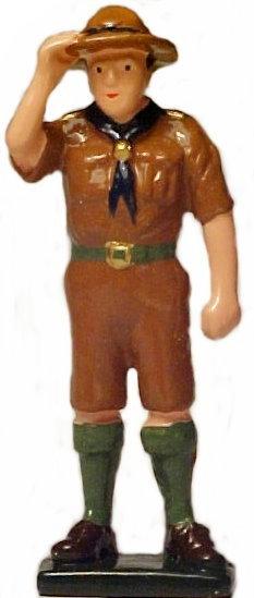 #1397 Boy Scout Saluting