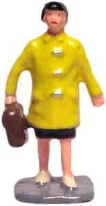 #1109 School Girl in Raincoat