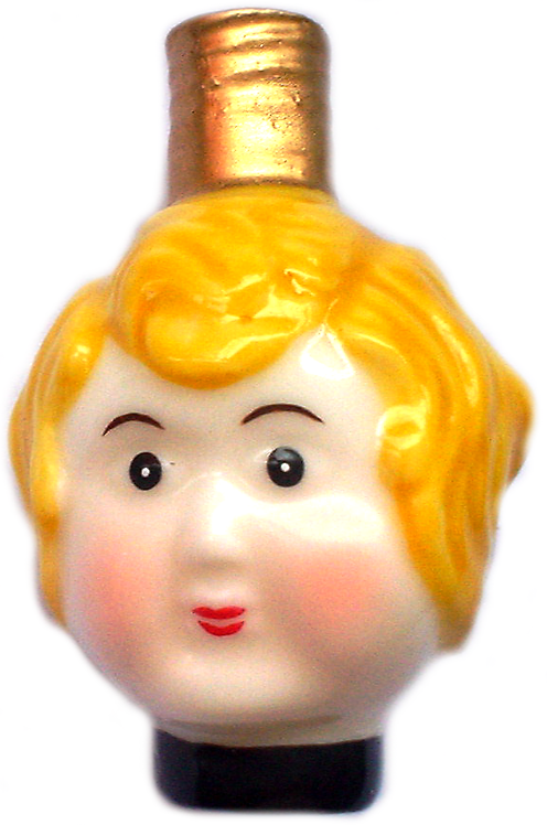"#BC-011 - Old Time ""Milk Glass"" Christmas Light - Doll's Head"