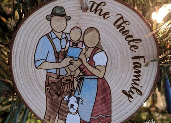 Oktoberfest Family Ornament