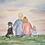Thumbnail: Original Custom Family Watercolor Painting