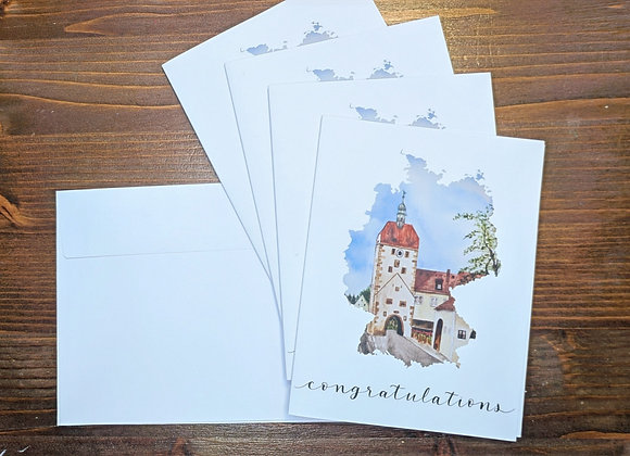 "Vilseck ""Congratulations"" Greeting Card- 4 pack"