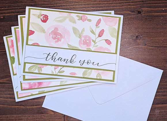 """Thank You"" Greeting Card- 4 pack"