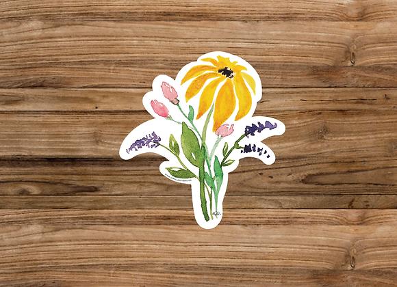 Sticker/Decal - Floral Bouquet