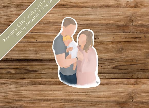 Sticker/Decal - Digital Family Artwork