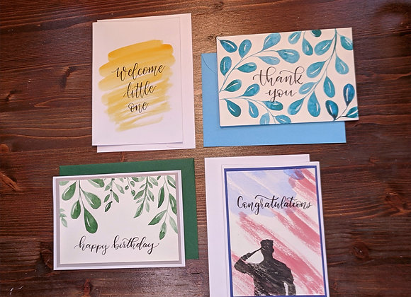 Greeting Card- Variety 4 pack