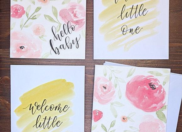 """Baby"" Greeting Card- 4 variety pack"