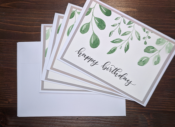 """Happy Birthday"" Greeting Card- 4 pack"