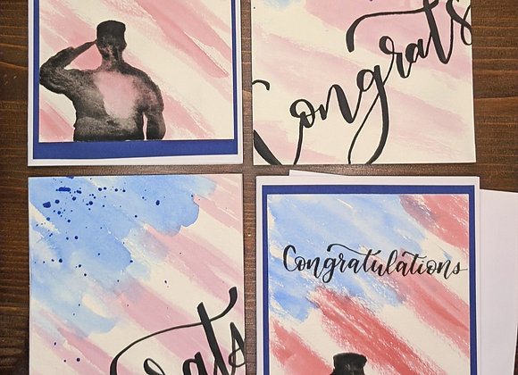 """Congratulations"" Greeting Card Variety 4 pack"