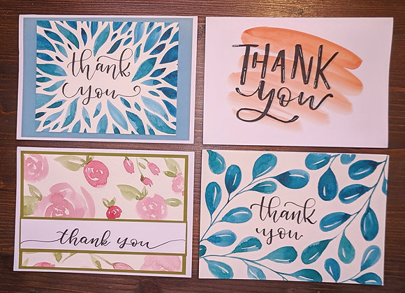 """""""Thank You"""" Greeting Card- Variety 4 pack"""
