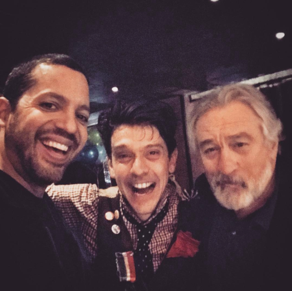 With David Blaine and Robert De Niro