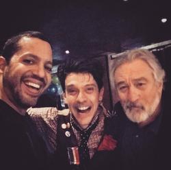 With David Blaine and Robert De Niro