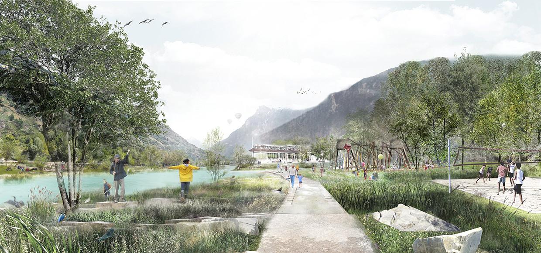 Agence Base Lyon_ Lauréat Concours Berges RHONE Suisse