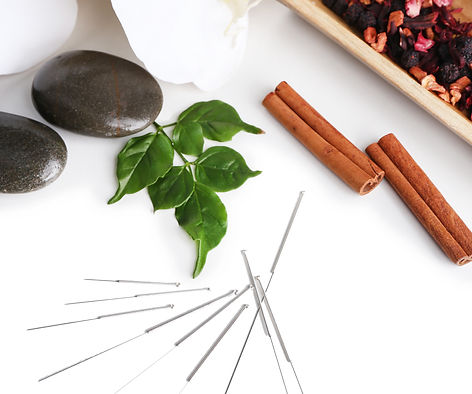 acupuncture neddles with cinnamon and eucalyptus scents to relax during acupuncture session