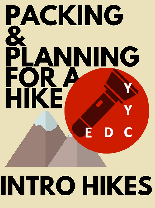 Intro Hikes: Packing and Planning