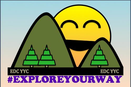 #Exploreyourway Sticker