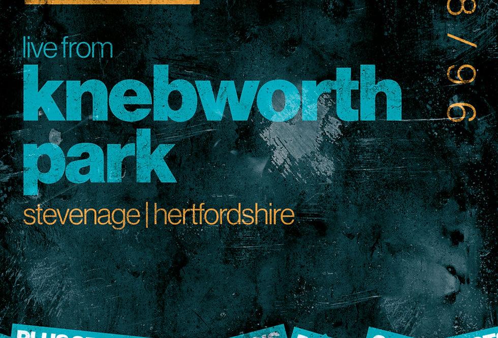 Knebworth Oasis Gig Poster Art Print